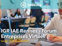 Evenement Rennes Forum Entreprises Virtuel IGR-IAE Rennes