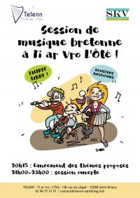 Evenement Bréhand Session de musique bretonne