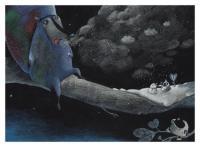 Evenement Jonquières Kamishibaï, sur une planète blanche un cosmonaute a atterri... Du rêve illustré d'une grande finesse !
