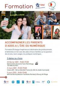 Evenement Cruas Formation Accompagner les parents d'ados à l'ère du numérique
