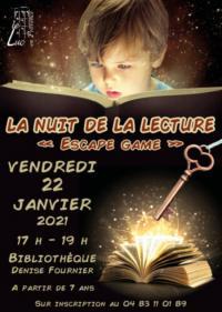 Evenement Cavalaire sur Mer Nuits de la lecture: Escape Game