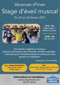 Evenement Loiret Stage d'éveil musical