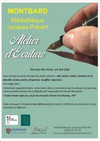 Evenement Villars et Villenotte Atelier d'écriture : un bol d'air