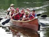 Idée de Sortie Port Sainte Foy et Ponchapt Balade au fil de l'eau en canoë Rabaska