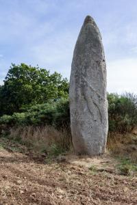 Idée de Sortie Saint Bihy Menhir de la Roche-Longue