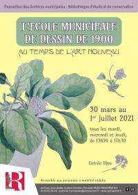 Evenement Lorraine L'ÉCOLE MUNICIPALE DE DESSIN DE 1900 : AU TEMPS DE L'ART NOUVEAU