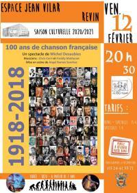 Evenement Monthermé 100 ans de chanson française
