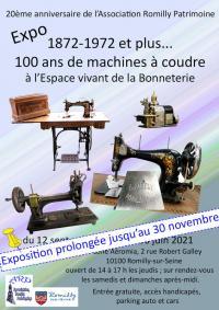 Evenement Méry sur Seine Exposition - 100 ans de machines à coudre