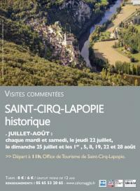 Visite-Guidee-Saint-Cirq-Lapopie-Historique Saint Cirq Lapopie