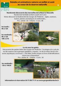 Idée de Sortie Bidon Balade et animations au coeur de la réserve naturelle des Gorges de l'Ardèche