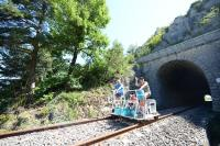 Idée de Sortie Sainte Eulalie de Cernon Vélorail et Train Touristique du Larzac