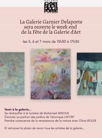 Evenement Ivoy le Pré Fête de la Galerie d'Art : Galerie Garnier Delaporte ouverte