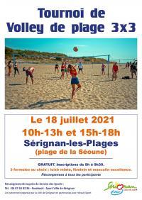 Evenement Languedoc Roussillon TOURNOI DE BEACH VOLLEY 3X3