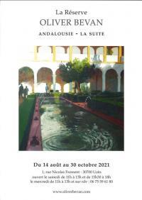 Evenement Aigaliers Exposition - Oliver Bevan Andalousie la suite