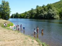 Idée de Sortie Branceilles Baignade dans la rivière Dordogne à Vayrac