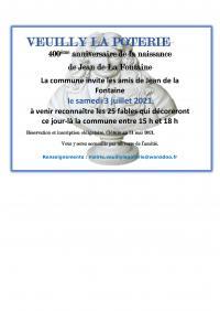 Evenement Vichel Nanteuil 400ème anniversaire de Naissance de Jean De La Fontaine