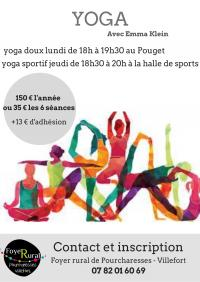 Evenement Chambonas COURS DE YOGA