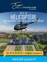 Idée de Sortie Loir et Cher Héli-Passion Val de Loire