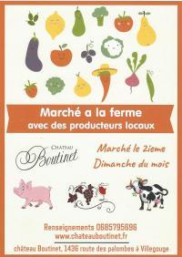 Marché, un Vide Grenier ou une Brocante Pugnac Marché à la ferme à Villegouge