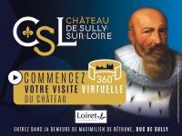 Idée de Sortie Loiret Visite virtuelle du Château de Sully-sur-Loire