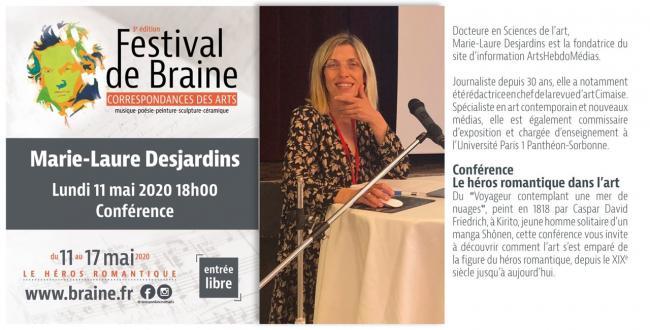 Festival des correspondances des Arts. Le Héros romantique-conférence-Credit-Mairie-de-Braine