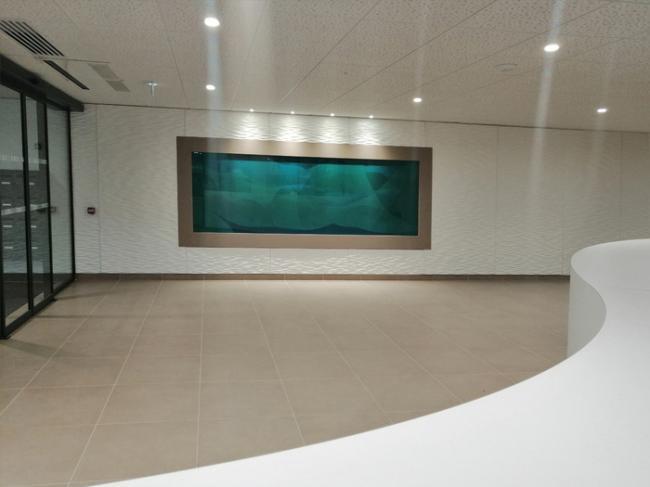 Un tableau bleu et vert émeraude de Guillaume Bottazzi présenté à Lyon-Un-tableau-bleu-et-vert-emeraude-de-Guillaume-Bottazzi-presente-a-Lyon