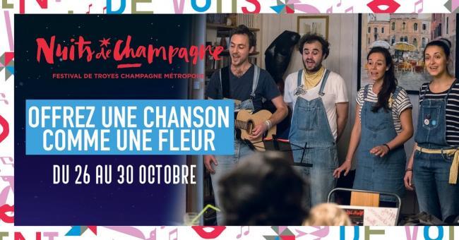 Festival Nuits de Champagne - Offrez une chanson comme une fleur-Credit
